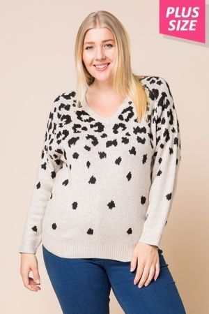 Plus size animal fade away print top